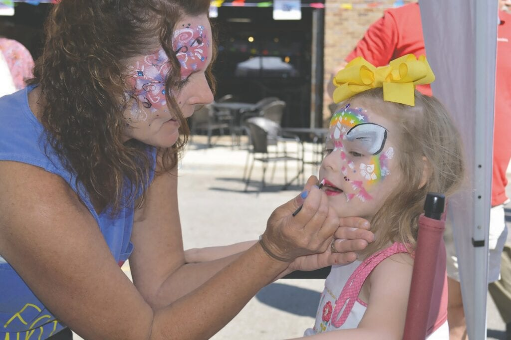 The 19th Annual June Fling takes place this weekend. Face painting is only one of the promised fun activities. -www.oneontabusinessassociation.com