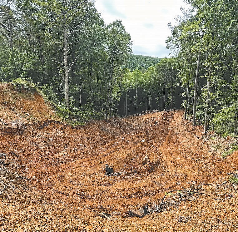 Repairs to County Highway 7 in Hayden, which was damaged by storms during Easter weekend April 2020, are about 15 percent complete.