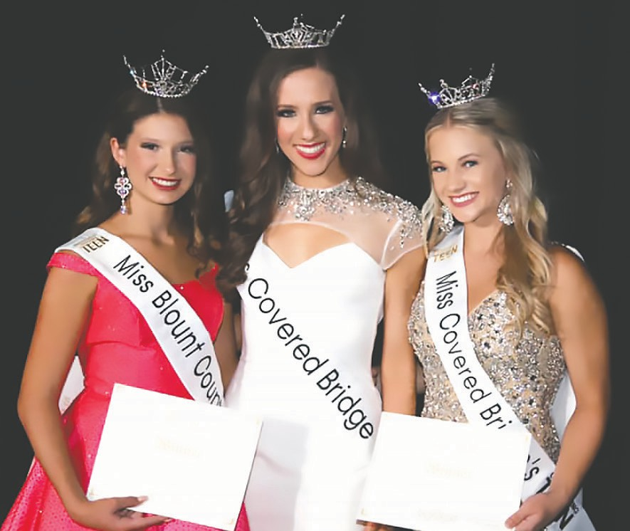 From left: Mattie Wisener, Hannah Adams, and Katherine Grigsby represent Blount County. -John Boyd