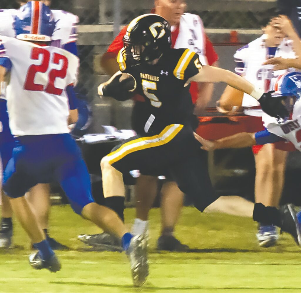 Cleveland's Jacob Johnson caught three passes for 88 yards against West End. -School Sports Photography   Traci Price