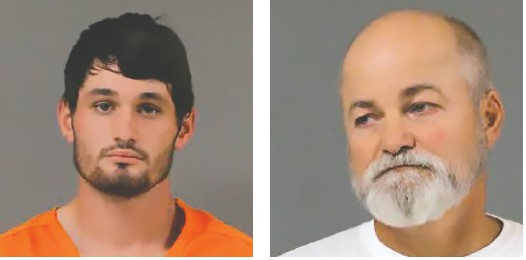 Eric Williams (left) and Chris Abel will serve jail time as convicted sex offenders. -BCSO